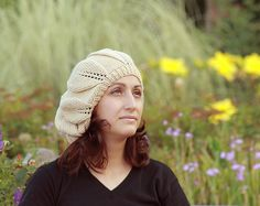 Knit cap with a slouchy silhouette