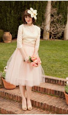 Vintage Bridesmaids Tulle Skirt | Blushing Bride Skirt