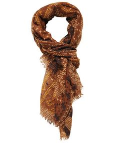 Embroidered Print Scarf  $10.80