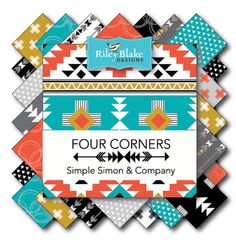 Four Corners Fat Quarter Bundle by Simple Simin Co. by CountryRoadQuilts on Etsy https://www.etsy.com/listing/244068364/four-corners-fat-quarter-bundle-by