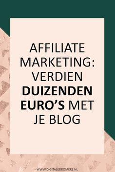 Wil je geld verdienen met je blog of wil je passief inkomen genereren? Gebruik dan affiliate marketing om veel geld te verdienen met je blog.