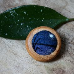 needle-felted brooch - placid waters - by Lisa Jordan of lil fish studios