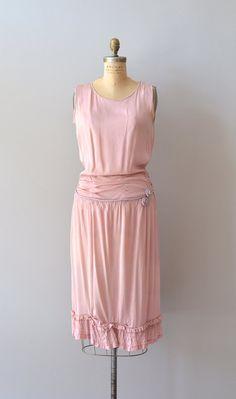 vintage 20s dress / silk 1920s dress / Circe silk dress