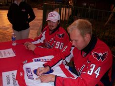 Marcus Johansson and Alexander Urbom. Washington Capitals at Six Flags, 2013-14 Edition - Capitals Outsider