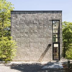 Concrete bricks in a basket-weave configuration.....Chelsea Hill House by Kariouk Associates