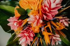 Such a beautiful tropical bouquet for this Mexico destination wedding. Cancun Mexico, Wedding Vows, Destination Wedding Photographer, Newlyweds, Unique Weddings, Wedding Details, Things That Bounce, Bouquet, Tropical