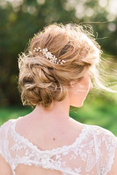 I love the messy braided/twisted look of this updo