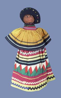 I used to have a couple of these dolls. We got them while visiting the Miccosukee Indian reservations in the 1970's as kids, in the Everglades (Miami).