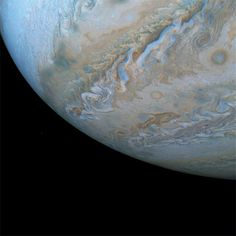 This series of images from NASA's Juno spacecraft captures changing cloud formations across Jupiter's southern hemisphere. A cloud in the shape of a dolphin appears to be swimming through the cloud bands along the South South Temperate Belt. Sistema Solar, Nasa Juno, Clouds Band, Juno Spacecraft, Project Mercury, Framed Records, Astronomy Pictures, Nasa Space Pictures, Space Pics
