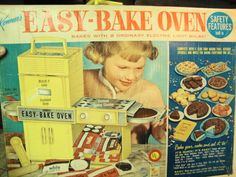 Easy Bake Oven...I had one like this that was passed down to me from a neighbor that had outgrown it.  So fun!