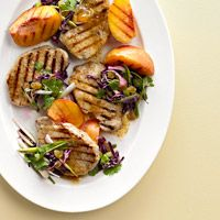 Vanilla Peach Pork Chops with Green Onion Slaw - all of this was DELICIOUS.  Highly recommend!