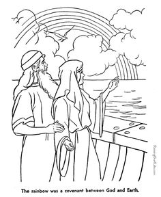 Coloring Page Bible Noahs Ark