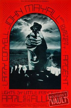 John Mayall Poster, Fillmore West (San Francisco, CA) Apr 16, 1970