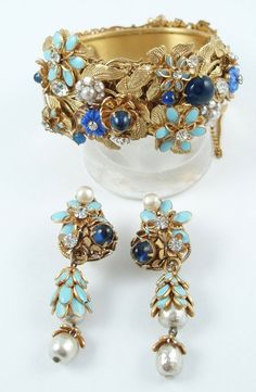 Haskell blue enamel_ cab bracelet earrings2.jpg (418×640)