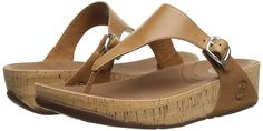 FitFlop Women's The Skinny Cork Leather Flip Flop * You can get additional details at the image link. #shoestrend