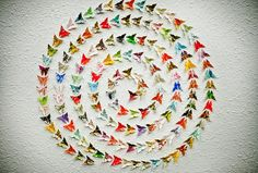 paper butterfly installation by Will & Caro