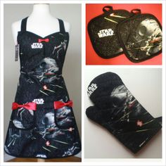 Star Wars kitchen set by HauteMessThreads on Etsy,