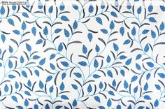NEW FABRIC! Perfect for Spring and Summer! - Blue floral fabric grape hyacinths spring handprint - A blue floral fabric. A floral fabric with a relative of spring's grape hyacinths! This is a handprint.  #floral #flowers #grape #hyacinth #fabric #upholstery #sewing #spring #summer #home #decorating #decor #Homedec #flower #blue #purple #violet #grape #grapes