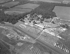 Gosforth Park on race day in 1949. Aerial view of Gosforth Park racecourse, Newcastle upon Tyne, June 1949 (TWAM ref. DT.TUR/2/3119E). From Tyne & Wear Archives
