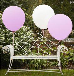 Hochzeit Dekoration Ideen mit großen Ballons