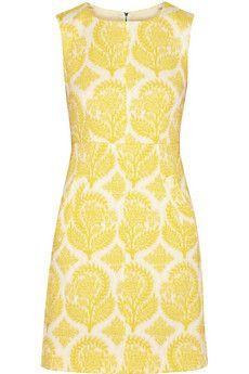 Diane von Furstenberg Carpreena floral-jacquard mini dress   THE OUTNET