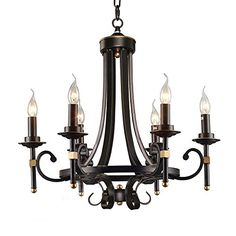 LNC Antique 5-light Black Iron Chandelier Candle Light Lighting ( Bulb Not Included ) LNC http://www.amazon.com/dp/B018K8SEI8/ref=cm_sw_r_pi_dp_-LAWwb1QVQ4H2