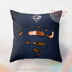 superman torn tshirt - Pillow Case 18 x 18 - Note for 16 inch