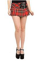 Hell Bunny Red Plaid Mini Skirt Sku 723960