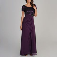 Decode 1.8 Women's Plum Novelty Swirl Embroidered Gown | Overstock.com Shopping - The Best Deals on Evening & Formal Dresses