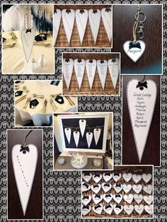 Vintage Theme Unique bespoke wooden hand painted table plan and place settings/favours  #luxury #wood #vintage #monochrome #planning #favours #wedding