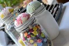 mason jar pin cushions little miss momma