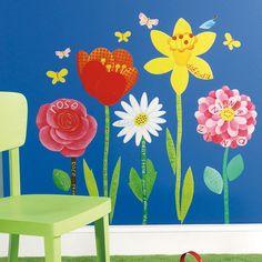 Reading Environment Wallies Garden Flowers Wall Decor