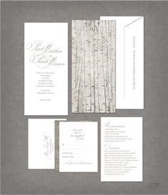 RUSTIC ELEGANT GREY Wedding Invitations  Script von ArtsyDesignCo, $45.00