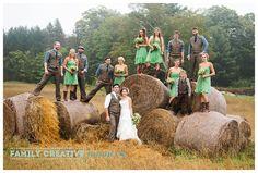 Rustic farm wedding in Muskoka - green & tan with cowboy boots