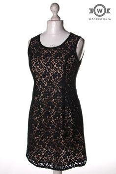 >> Beżowa #sukienka z warstwą #koronki #Wzorcownia online   #dunnes #woman #dress