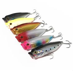 Fishing Lure Topwater Big Mouth Popper Artifiical Lures Bait 8cm/13.5g