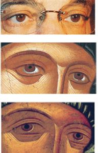 Visit the post for more. Byzantine Icons, Orthodox Icons, Eye Art, Religious Art, Beautiful Paintings, Eyes, Detail, Drawings, Face