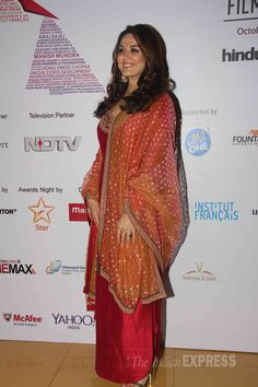 Preity Zinta on Day 5 of the 16th Mumbai Film Festival.