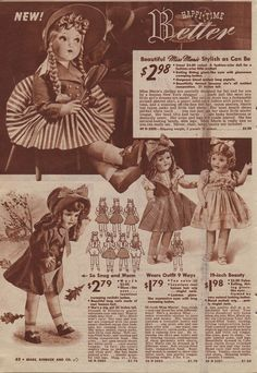 Dolls from the Sears Christmas Catalog, 1940
