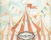 NEW ITEM 5ft x 5ft Vintage Circus ----- Vinyl Photography Backdrop / Grunge Tents. $52.99, via Etsy.