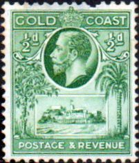 Gold Coast Ghana 1928 SG 103 King George V Christiansborge Castle Mint SG 103 Scott 98 Condition Fine LMM has missing perf priced accordingly Only