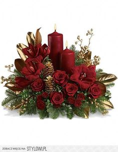 Send Christmas Flowers in Baltimore, MD from Raimondi's Flowers & Fruit Baskets for flower delivery in the Baltimore area. Raimondi's Flowers & Fruit Baskets in Baltimore offers a wide selection of Christmas Flowers. Christmas Flower Arrangements, Christmas Flowers, Christmas Table Decorations, Christmas Candles, Noel Christmas, Floral Arrangements, Christmas Wreaths, Christmas Ornaments, Christmas Crafts