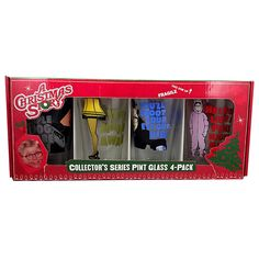 A Christmas Story Pint Glass Collectors Series 4 Pack Warner Brothers 71066