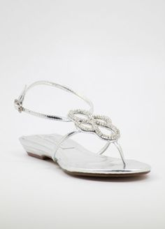 Silver Prom shoes with flat heels (Style 800-1)