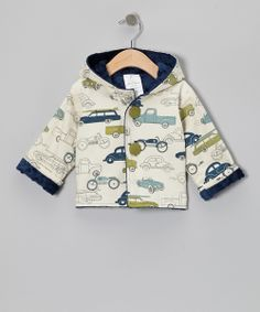 Navy Minky Dot Car Hooded Jacket - Infant & Toddler | Daily deals for moms, babies and kids
