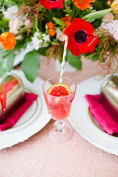 Galentine's Day Gala with Tangerine Sangria, Captured by Laura Foote Photography, Styling by Amber Veatch Designs, Florals by Ashton Events