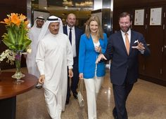 BAE visit of Princess Stephanie and Prince Guillaume