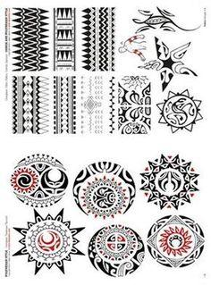 Polynesian Tattoo Flash | Polynesian and Maori Tattoo Flash Book #hawaiiantattoosideas