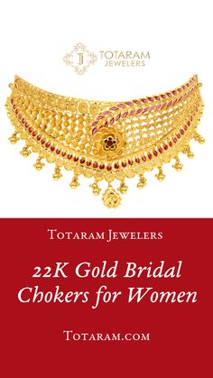 Gold Earrings Designs, Necklace Designs, Tanishq Jewellery, Bridal Jewellery, Gold Choker Necklace, Gold Necklaces, Chokers, Gold Jewelry, Stage