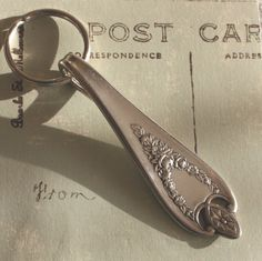 Vintage Silver Plate Silverware Key Ring in the Old Colony Pattern by Ogdenarthaus